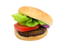 Beef burger isolated on white Royalty Free Stock Photos