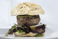 Beef burger Royalty Free Stock Photography