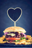 Beef burger time Royalty Free Stock Photo