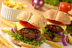Beef burgers Stock Photos