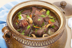 Beef Burgundy Boeuf Bourguignon Stew Casserole Royalty Free Stock Image