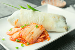 Beef burito with kimchi Royalty Free Stock Photo