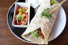 Beef burrito Royalty Free Stock Images