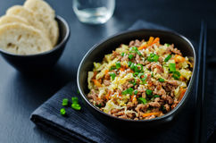 Beef and cabbage stir fry Stock Image
