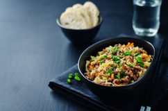 Beef and cabbage stir fry Stock Images