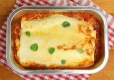 Beef Cannelloni Ready Meal Royalty Free Stock Images