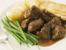 Beef Carbonnade with a Mustard Crouton Royalty Free Stock Images