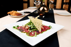 Beef carpaccio Royalty Free Stock Photos