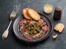 Beef carpaccio Stock Photo
