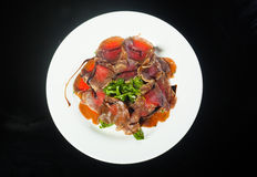 Beef carpaccio with rucola Royalty Free Stock Photography