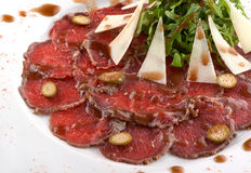 Beef carpaccio Royalty Free Stock Photo