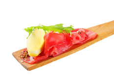 Beef Carpaccio on spatula Stock Image