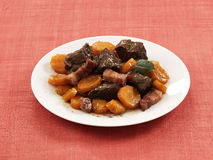 Beef and carrot stew Stock Images