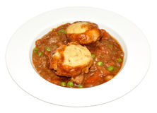 Beef Casserole And Dumplings Royalty Free Stock Image