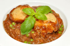 Beef Casserole And Dumplings Royalty Free Stock Photos
