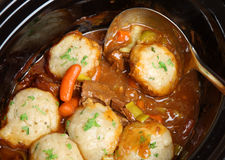 Beef Casserole Stew with Dumplings Royalty Free Stock Photos