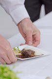 Beef cheeks braised in czech beer Stock Photos