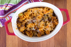 Beef and cheese rotinis pastas Royalty Free Stock Photos