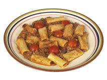 Beef and Chianti Rigatoni Pasta Royalty Free Stock Image