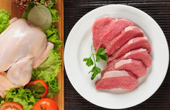 Beef and chicken Royalty Free Stock Photo