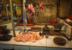 Beef and chicken meat sold in one of butcher in Jakarta Indonesia Royalty Free Stock Photography