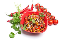 Beef  chili Royalty Free Stock Images
