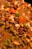 Beef chili con carne. A close of of beef chili con carne Royalty Free Stock Photo