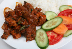 Beef chilli curry closeup Royalty Free Stock Photos