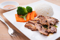 Beef with chinese sauce Stock Images