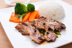 Beef with chinese sauce Stock Photos