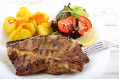 Beef chop with aromatic butter Royalty Free Stock Photos