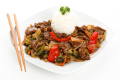 Beef chop suey Royalty Free Stock Image