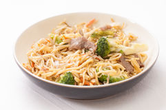 Beef chow mein Royalty Free Stock Photo