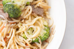 Beef chow mein Stock Photo