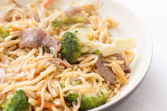 Beef chow mein Royalty Free Stock Images