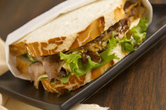 Beef And Chutney Sandwich Stock Photography