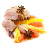 Beef with citrus fruits Stock Photo
