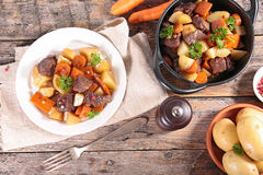 Beef cooked with carrot Royalty Free Stock Photo