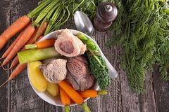 Beef cooked with vegetable Stock Photography