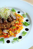 Beef and cous-cous salad Royalty Free Stock Images