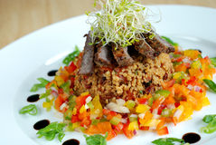 Beef and cous-cous salad Royalty Free Stock Photos