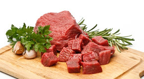 Beef cubes royalty free stock photo