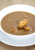 Beef curry. Japanese traditional food beef curry on white dish Stock Photography