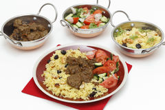 Beef curry and kadais Stock Images