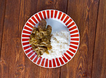 Beef Curry with Rice Stock Photography