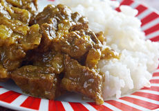 Beef Curry with Rice Royalty Free Stock Image