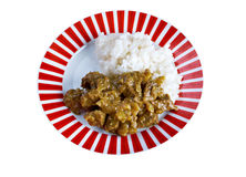 Beef Curry with Rice Royalty Free Stock Photo