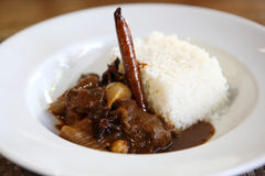 Beef curry with rice , Thai food Royalty Free Stock Image