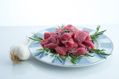Beef, cut to pieces Royalty Free Stock Photo