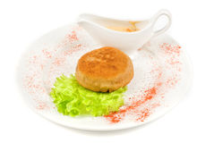 Beef cutlet stuffed with bacon Royalty Free Stock Photos